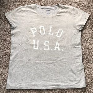 Polo Ralph Lauren Grey USA Tee